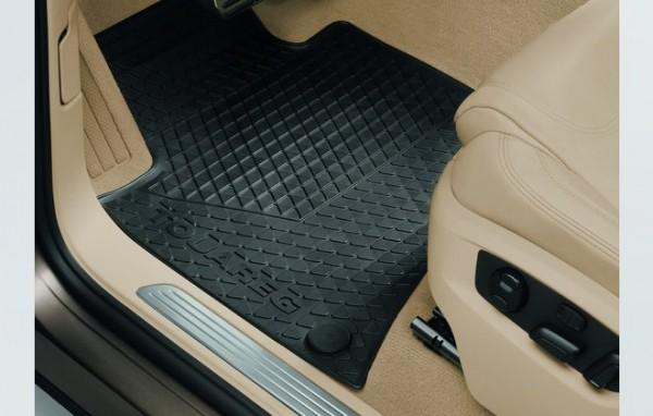 VW Touareg 7P Gummi Fußmatten Satz vorn Original Volkswagen Allwettermatten schwarz