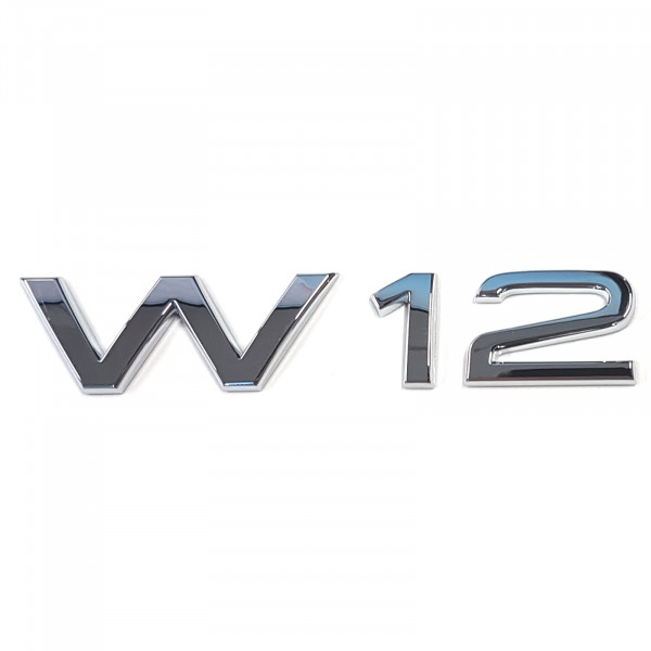 Original Audi Schriftzug W12 Emblem Logo Aufkleber Motorleistung chrom glänzend 4E08536012ZZ