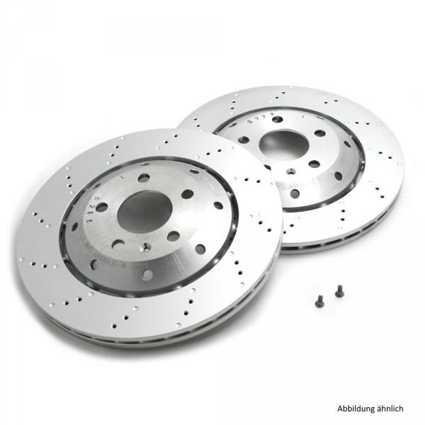 Original Audi Bremsscheiben R8 Bremsen Hinterachse gelocht 420615601F