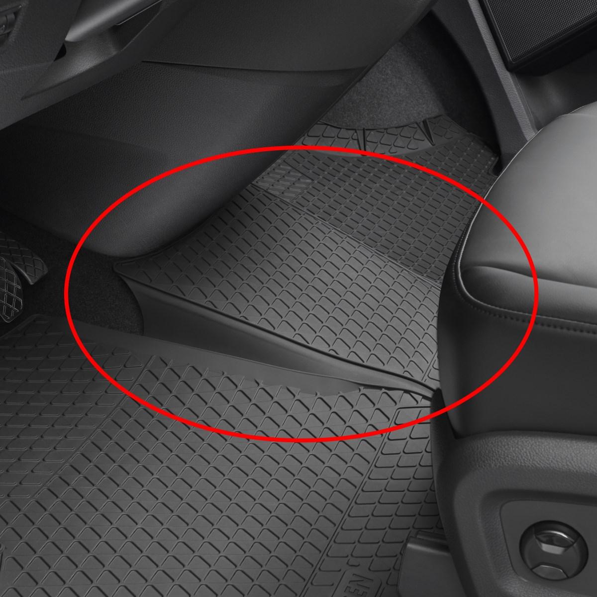 Volkswagen Gummifussmatten VW T5 vorn Gummimatten Gummi Fußmatten Matten