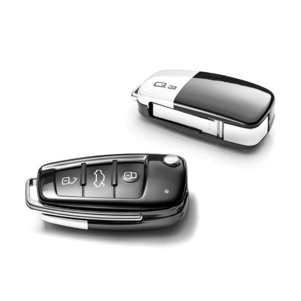 Audi Q3 Schlüsselblende Original Key Cover Schlüssel gletscherweiß/brillantschwarz