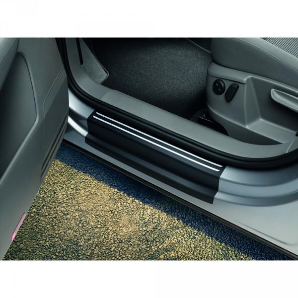 Original VW Sharan (7N) Schutzfolie Einstiegsleiste schwarz silber Tür Schutz Folie
