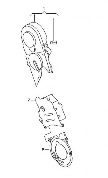 Zahnriemenschutz Abdeckung 1.9 TDI (Golf IV Bora Passat)