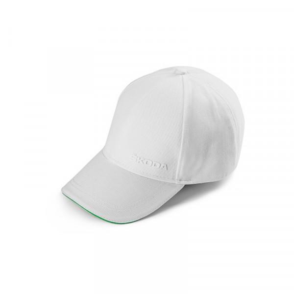 Original Skoda Baseballcap weiß Mütze Cap Baumwolle Kappe Logo