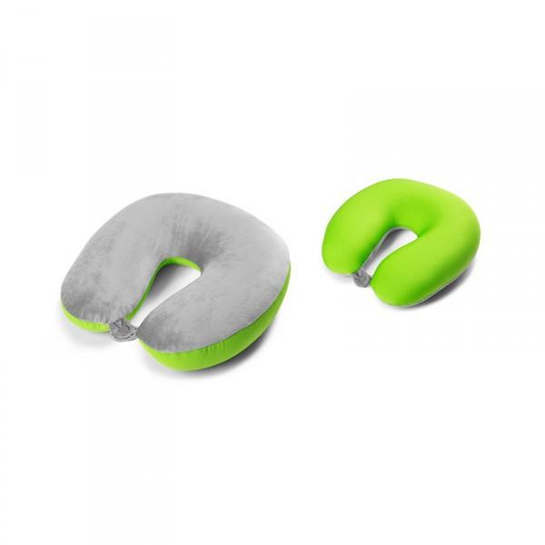 Original Skoda Nackenkissen grau/grün Reisekissen Kopfstütze Nackenhörnchen