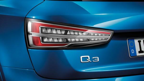 Klarglas LED Rückleuchten Original Audi Nachrüstung Satz Q3 RSQ3 Schlussleuchten