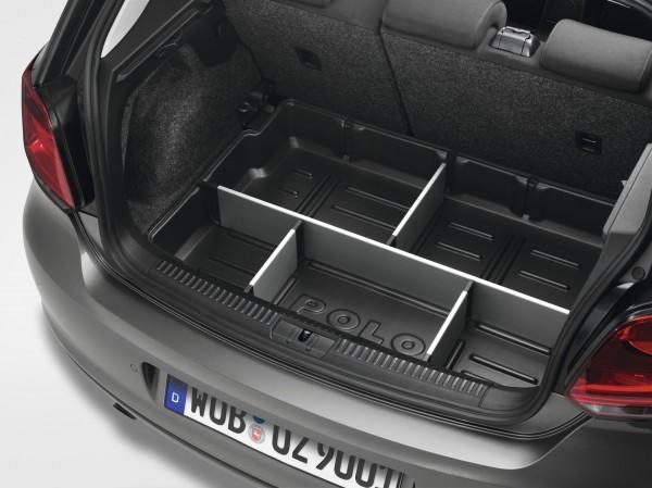 Gepäckraumwanne mit Trennelementen Original VW Polo 5 (6C/6R) Kofferraumwanne