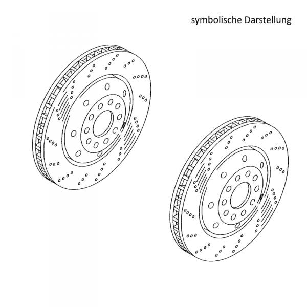 Original Audi Bremsscheiben RS6 Bremsen Hinterachse gelocht belüftet 1KY