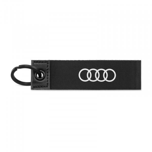 Original Audi Sport Schlüsselanhänger Ringe Logo Schlüsselband Keyring schwarz 3182000200