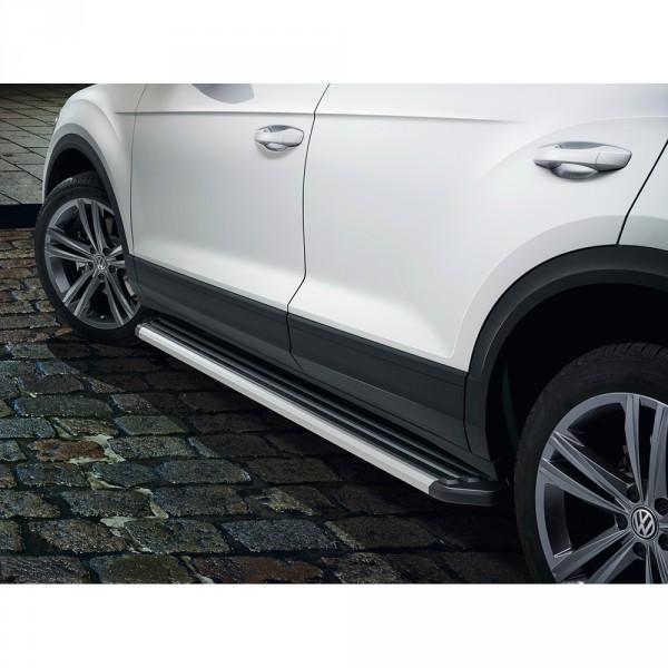 Original VW T-Roc Aluminium Trittbrett Set Seitenschweller Trittleiste Offroad