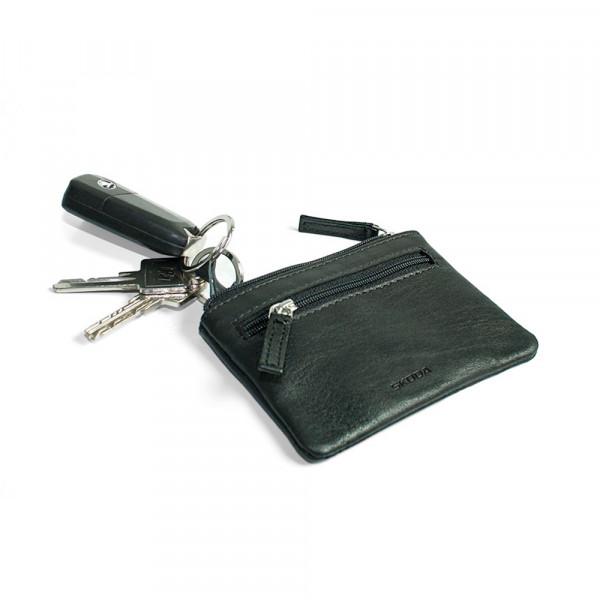 Original Skoda Schlüsseletui Softrindleder Aufbewahrung Schlüssel Tasche schwarz
