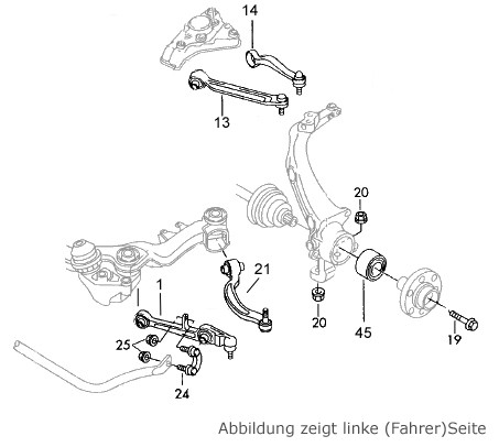 Original Volkswagen VW Ersatzteile VW Bremsbel/äge hinten Passat 3B//3BG Original VW Teile