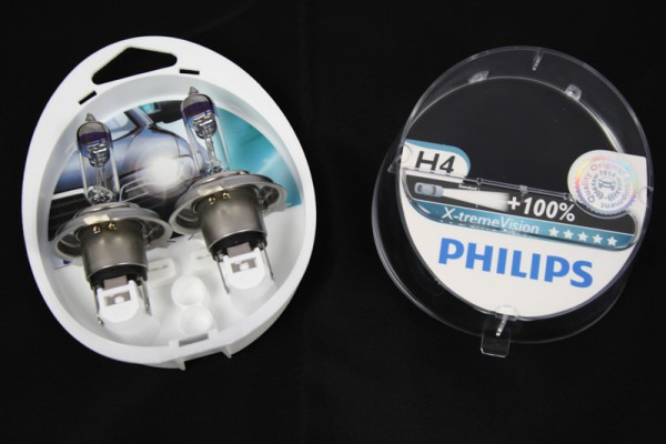Glühlampe X-treme Power H4 Original VW Audi universal Philips 100% X-treme Vision
