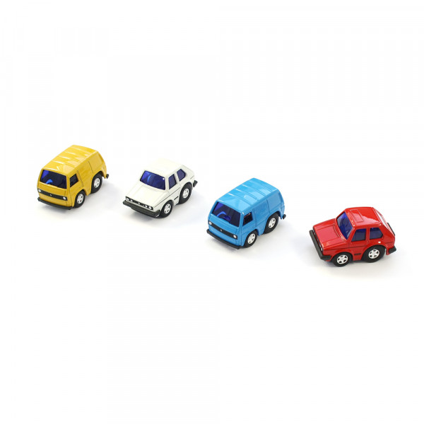 Original Volkswagen Spielzeugauto mit Rückziehfunktion Pullback T3 / GTI 1 Miniatur