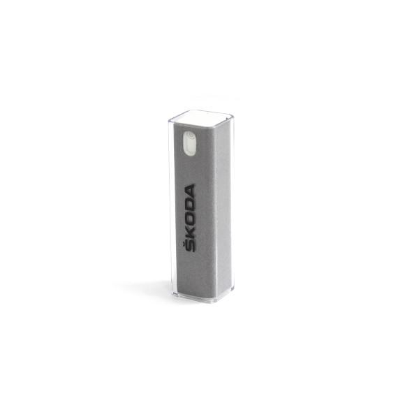 Original Skoda 2-in-1 Displayreiniger Touchdisplay Reinigungsmittel Mikrofaserhülle