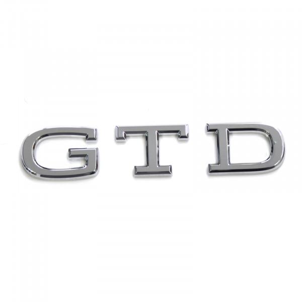 Original VW GTD Schriftzug Aufkleber Heckklappe Emblem Design Tuning Logo chrom