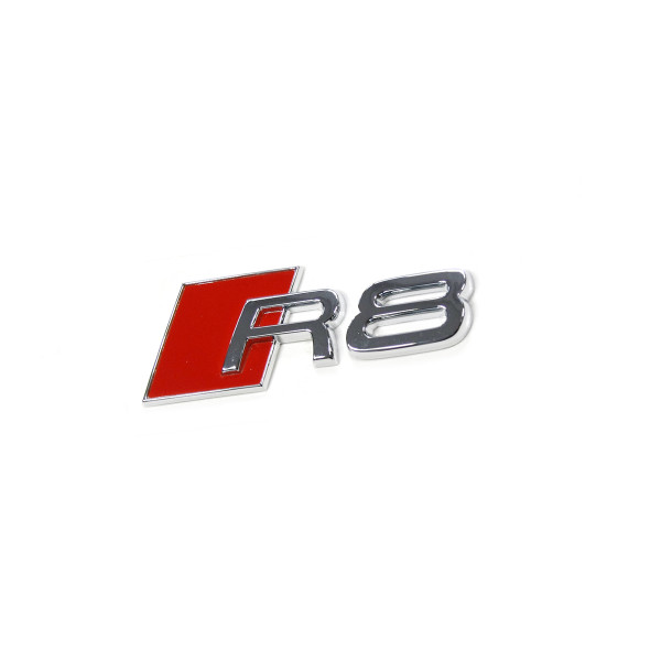 Original Audi R8 Schriftzug Tankklappe Emblem Tankdeckel Logo chrom