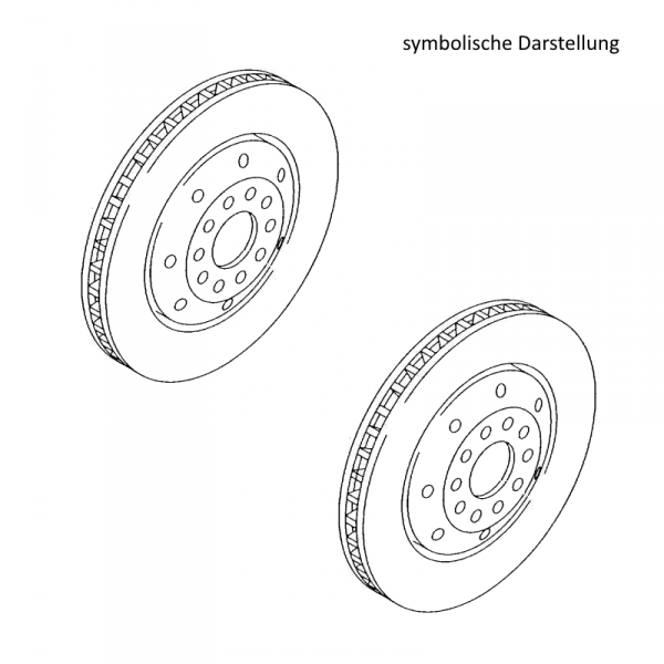 Original Audi Bremsscheiben RS6 Bremsen Hinterachse belüftet 1KZ