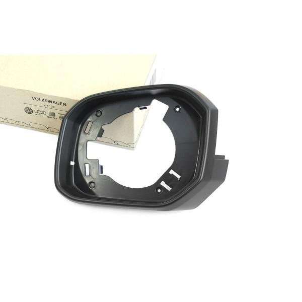Original VW Caddy 4 (SA) Spiegelrahmen Außenspiegel links Blendring Spiegel satinschwarz