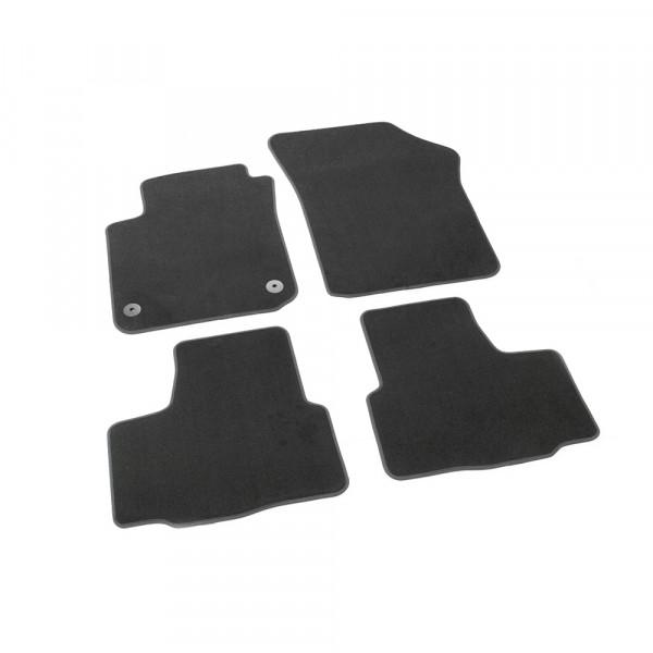 Original Seat Mii Textil Fußmatten Satz v+h Velours Matten schwarz 1SL863011LOE