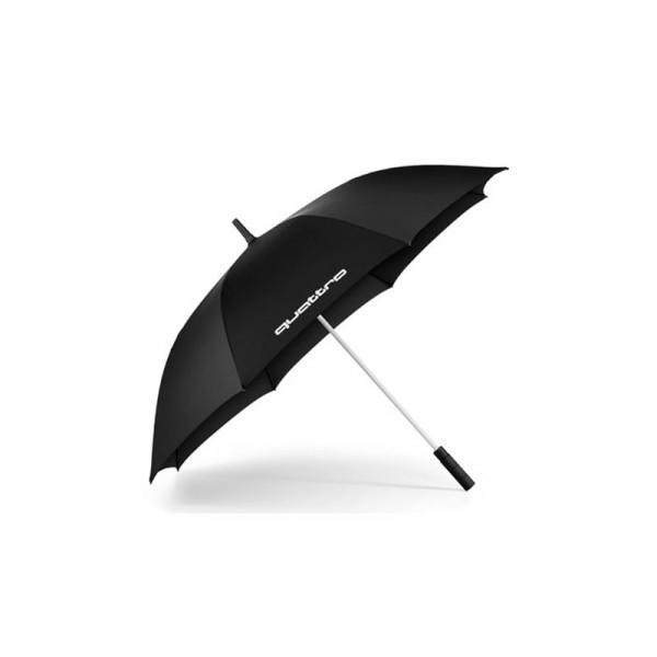 Audi quattro Stockschirm groß Original Schirm Accessoires Regenschirm schwarz