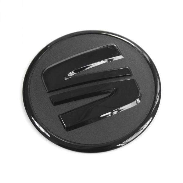 Original Seat Zeichen für Motorabdeckung Emblem Motorraum Abdeckung schwarz