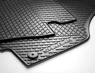 VW Gummi Fußmatten Sharan 7N Original , 4-teilig, VORN und MITTE