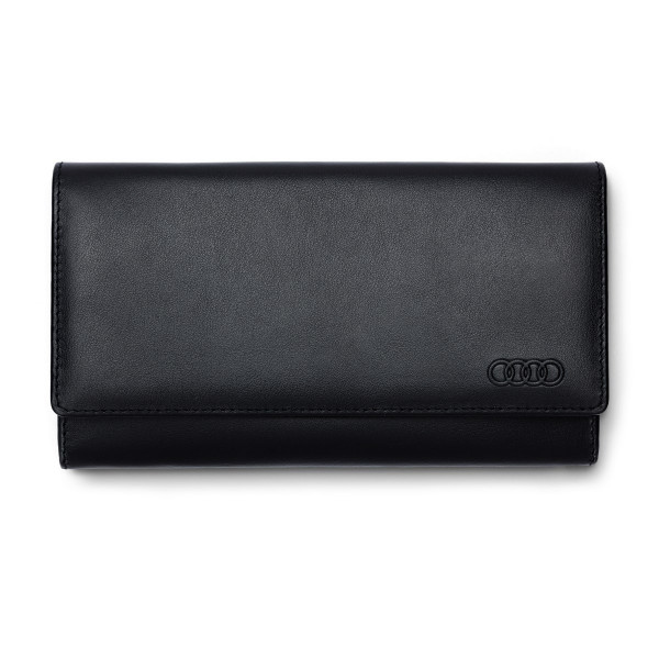 Original Audi Geldbörse Damen Portemonnaie RFID-Schutz Ringe Logo 3151901100