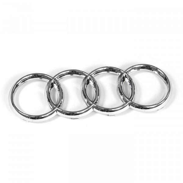 Original Audi Ringe Kühlergrill Emblem Logo chrom 8D0853605
