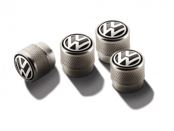 VW Ventilkappen z.B. Golf Polo Passat Scirocco Original Volkswagen Ventile Design Logo 000071215