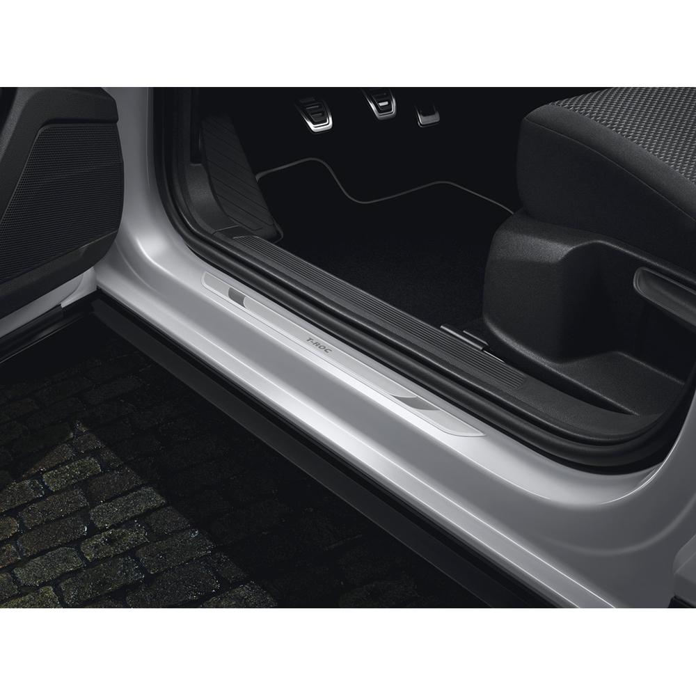Original VW T-Roc R Einstiegsleisten vorn Design Alu Sport Dekor Leisten OEM