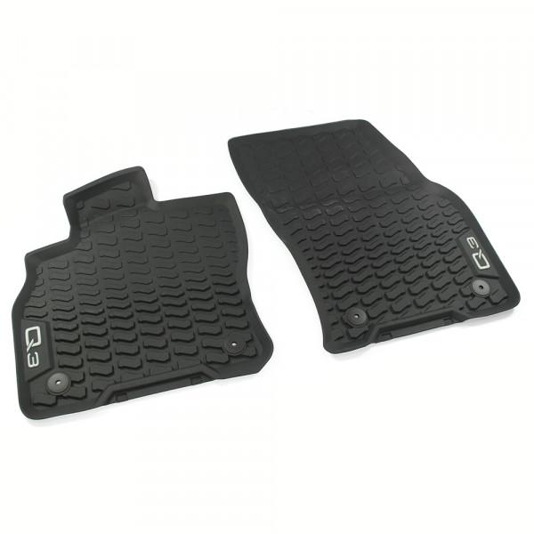 Original Audi Q3 (F3) Gummi Fußmatten vorn Gummimatten Allwettermatten schwarz