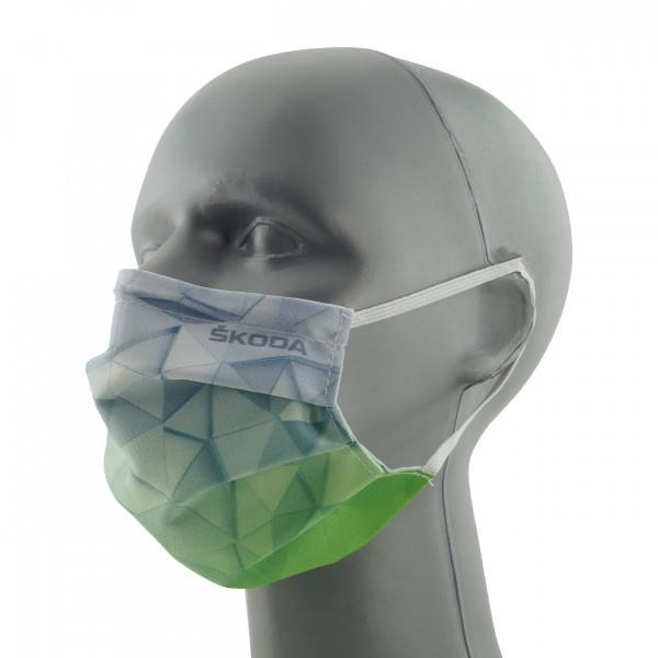 Original Skoda Mund-Nase-Abdeckung Alltagsmaske grün