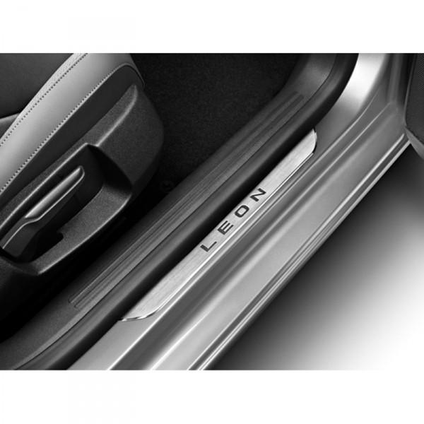 Original Seat Leon (5F) Edelstahl Einstiegsleisten vorn Zierleisten