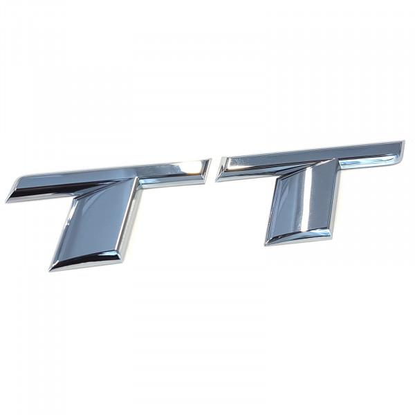 Original Audi Schriftzug TT Emblem Logo Aufkleber Modellbezeichnung chrom glänzend 8S0853741A2ZZ