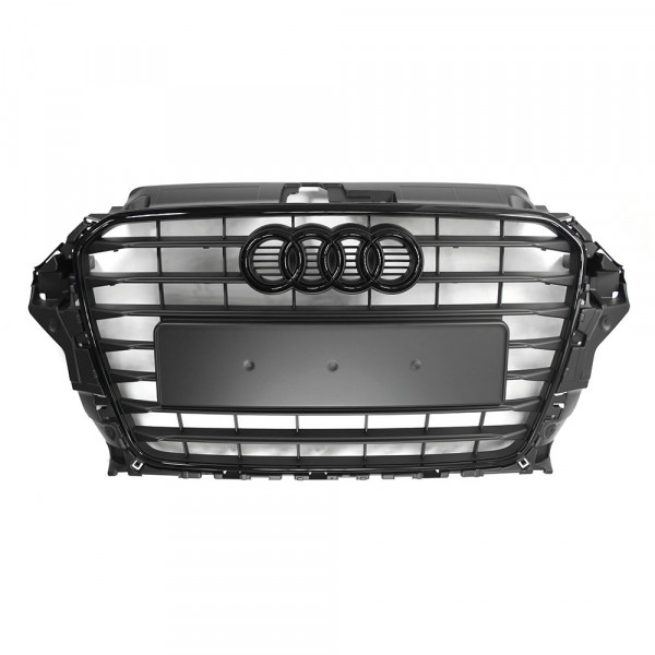 Original Audi A3 8V Black Edition Kühlergrill schwarz matt Frontgrill Tuning Design Grill Blackline