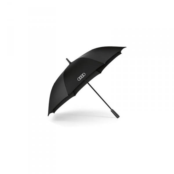 Audi Ringe Stockschirm groß Original Schirm Accessoires Regenschirm schwarz