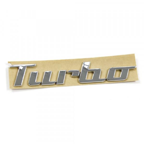 Original VW Beetle (5C) Turbo Schriftzug hinten Emblem Heckklappe Logo brilliantchrom