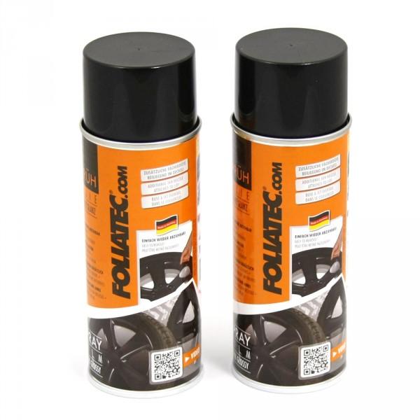 FoliaTec Sprüh Folie schwarz glänzend Felge Alufelge Sprühdosen 2x 400ml