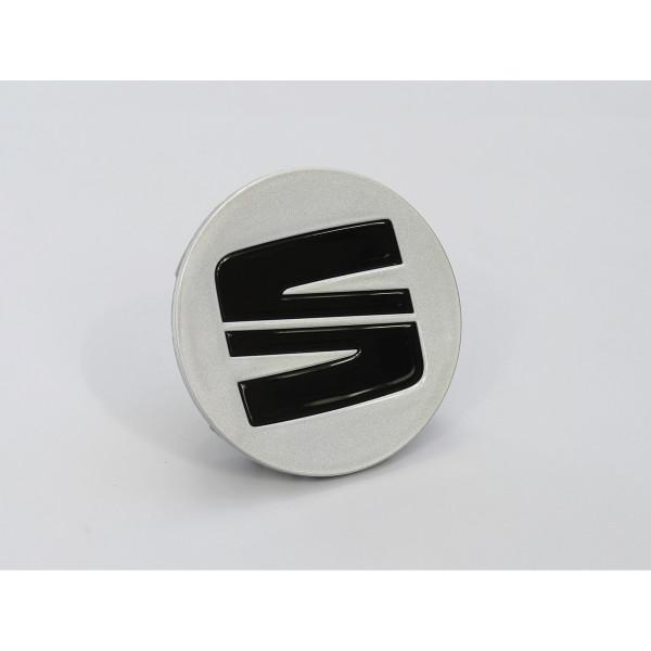 Original Seat Radzierkappe Nabenabdeckung Nabenkappe Radkappe silber schwarz glänzend