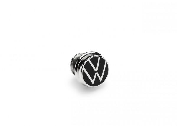 Original Volkswagen Pin VW Logo Anstecker Nadel Button silber/schwarz 000087000T