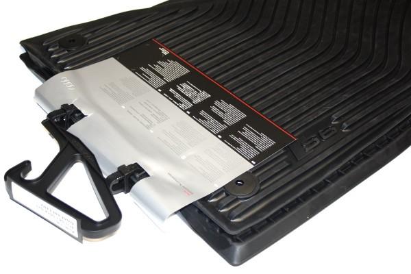 Audi A6 S6 C7 4G Gummi Fußmatten mit S6 Schriftzug Original 4-teilig schwarz Gummimatten