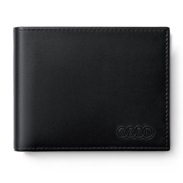 Original Audi Mini Geldbörse Portemonnaie RFID-Schutz Geldbeutel schwarz 3151900400