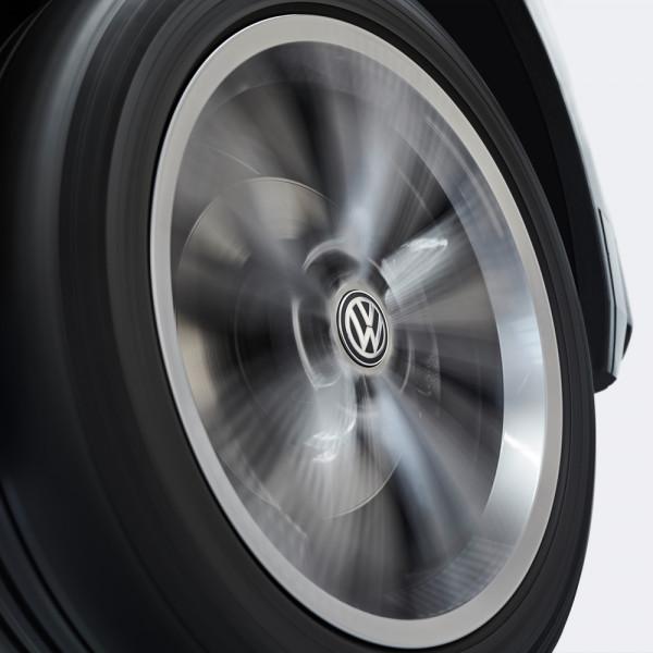 Original VW Dynamische Nabenkappen Radnabendeckel Leichtmetallfelge Chromfarben