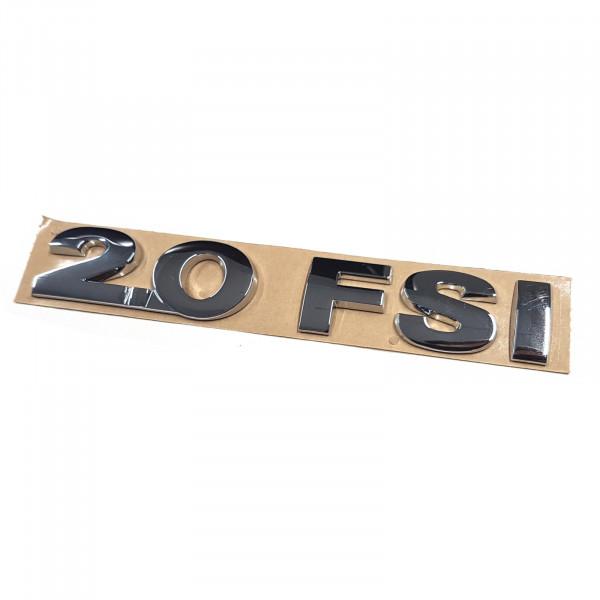 Original VW Schriftzug 2.0 FSI Emblem Logo Aufkleber chrom glänzend