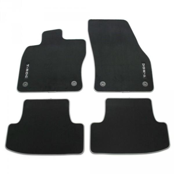 Original VW T-Roc Cabrio Premium Velours Textil Fußmatten schwarz 4-teilig 2GC061270WGK