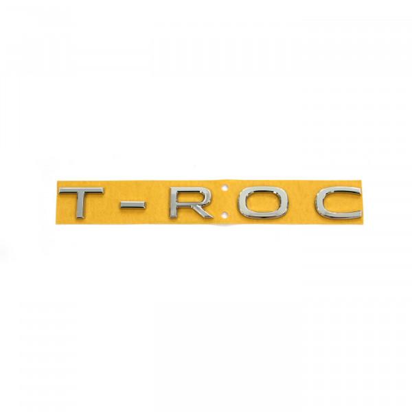 Original VW T-Roc Facelift Schriftzug Buchstaben Aufkleber Heckklappe Emblem Logo chrom
