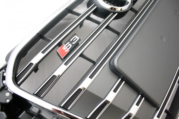Kühlergrill S3 Original Audi A3 8V S-line Tuning Grill Platiniumgrau Chrom