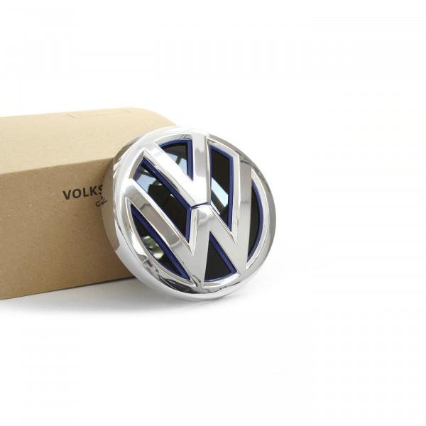 Original VW e-Golf 7 (5GE) VW Emblem Heckklappe Zeichen GTE Logo chrom ultramarinblau