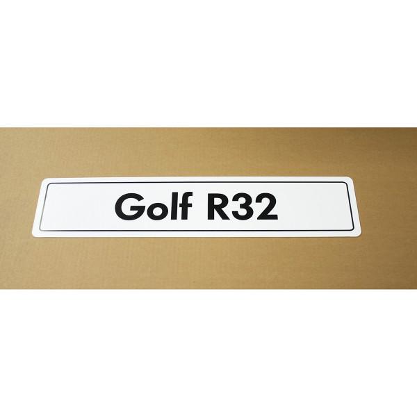 Original VW Kennzeichenschild Golf R32 Nummernschild Kennzeichen Typenschild